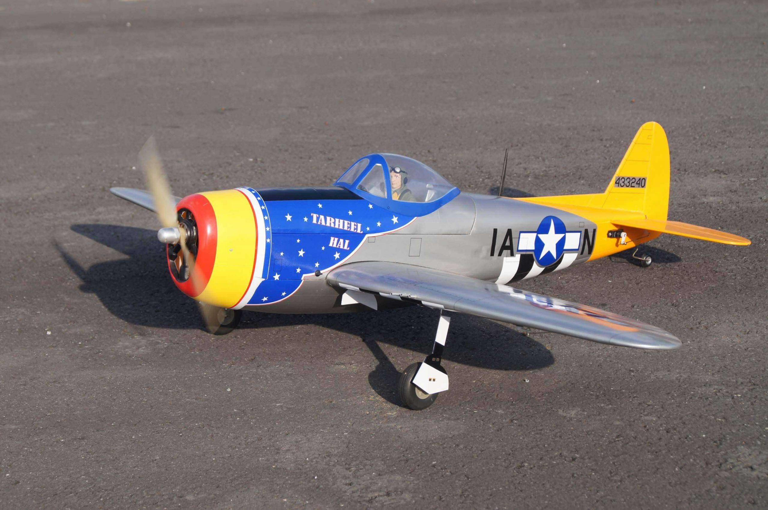 VQ MODELS P-47D 20 size EP Tarheel Hal version タールヒル・ハル