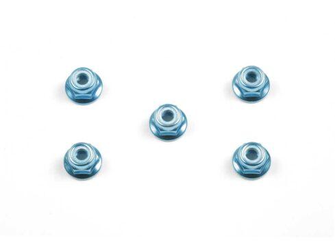 タミヤ OP.159 4mmアルミフランジロックナット(ブルー) 53159