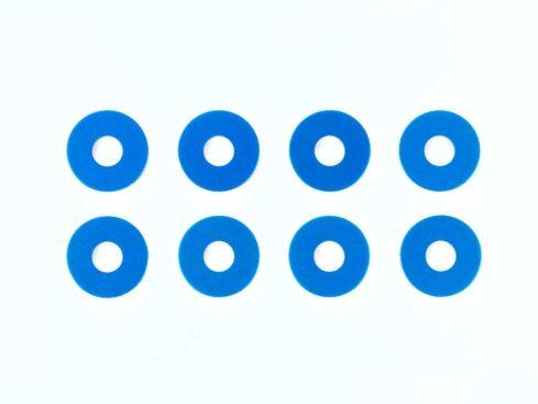 タミヤ OP.1573 0.75mmホイールスペーサー (ブルー) 8枚 54573