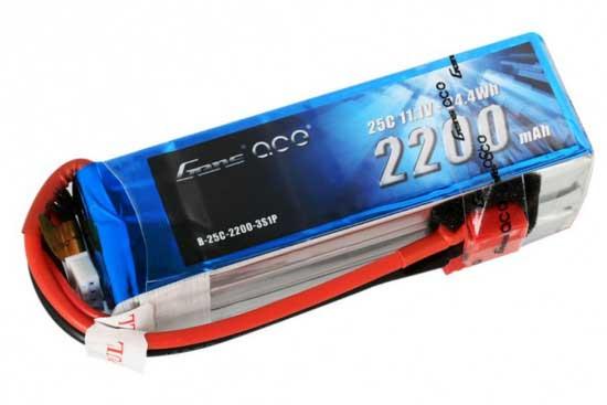 Gens ace 2200mAh 11.1V 25C 3S1P Lipoバッテリー Deans plug