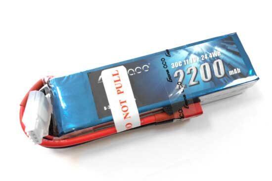 Gens ace 2200mAh 11.1V 30C 3S1P Lipoバッテリー Deans plug