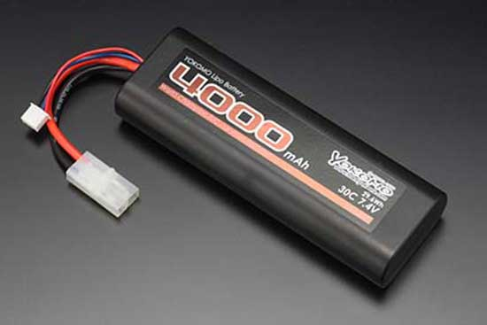 YOKOMO Li-po 4000mAh 7.4V 30C ストレートパック バッテリー