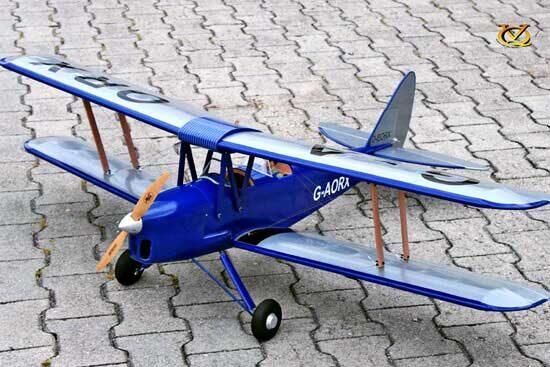 VQ MODELS Tiger Moth 46 size EP-GP Dark - Blue version タイガーモス 両用機