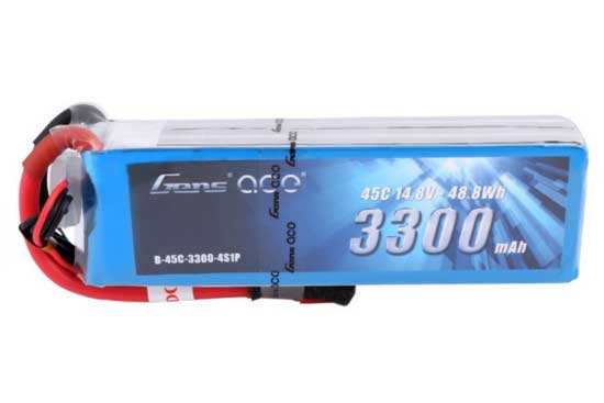 Gens ace 3300mAh 14.8V 45C 4S1P Lipoバッテリー Deans plug