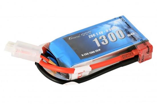 Gens ace 1300mAh 7.4V 25C 2S1P Lipoバッテリー Deans plug