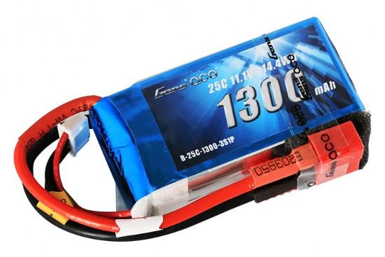 Gens ace 1300mAh 11.1V 25C 3S1P Lipoバッテリー Deans plug