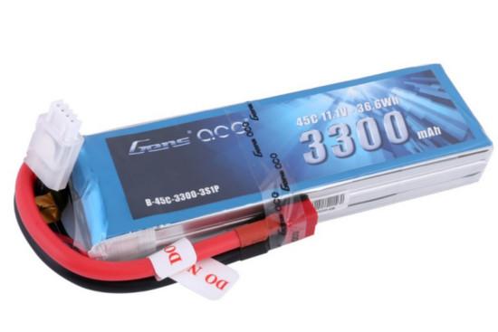 Gens ace 3300mAh 11.1V 45C 3S1P Lipoバッテリー Deans plug