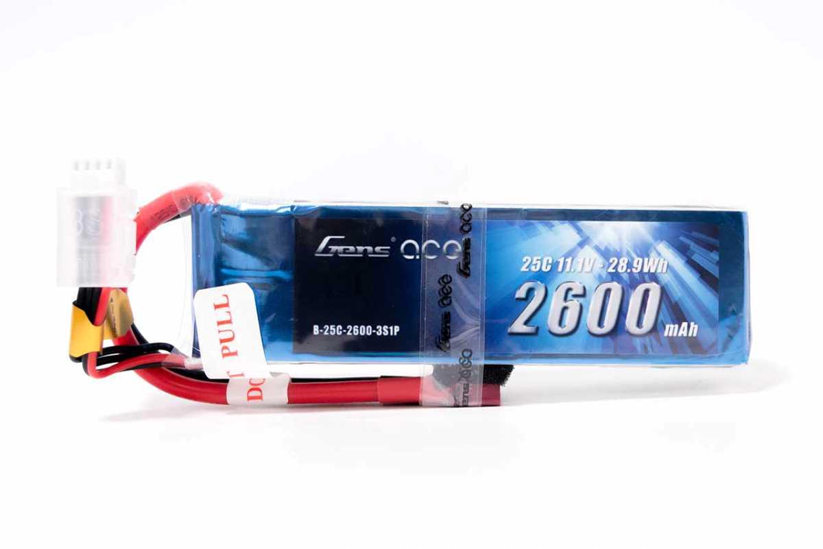 Gens ace 2600mAh 11.1V 25C 3S1P Lipoバッテリー Deans plug