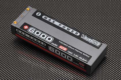 ヨコモ マックスパワー Li-po 6000mAh/7.4V LCGバッテリー YB-V260BL
