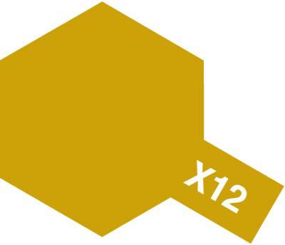 タミヤ タミヤカラーアクリルミニ X-12 ゴールドリーフ 81512