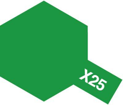 タミヤ タミヤカラーアクリルミニ X-25 クリヤーグリーン 81525