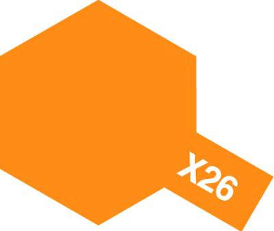 タミヤ タミヤカラーアクリルミニ  X-26 クリヤーオレンジ 81526