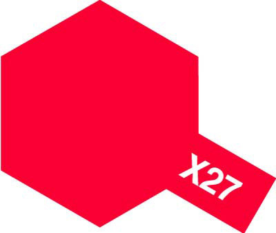 タミヤ タミヤカラーアクリルミニ X-27 クリヤーレッド 81527