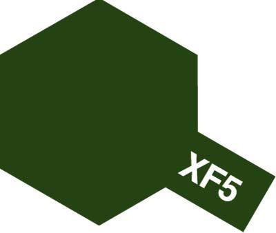 タミヤ タミヤカラーアクリルミニ  XF-5 フラットグリーン 81705