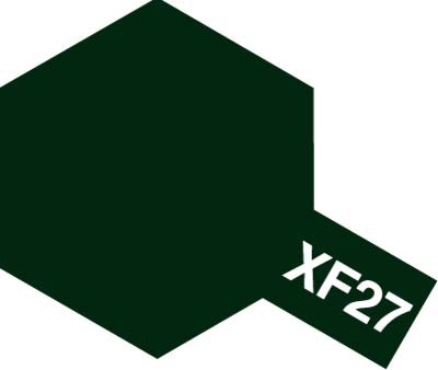 タミヤ タミヤカラーアクリルミニ XF-27 ブラックグリーン 81727