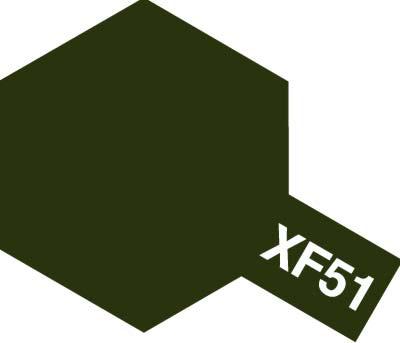 タミヤ タミヤカラーアクリルミニ XF-51 カーキドラブ 81751