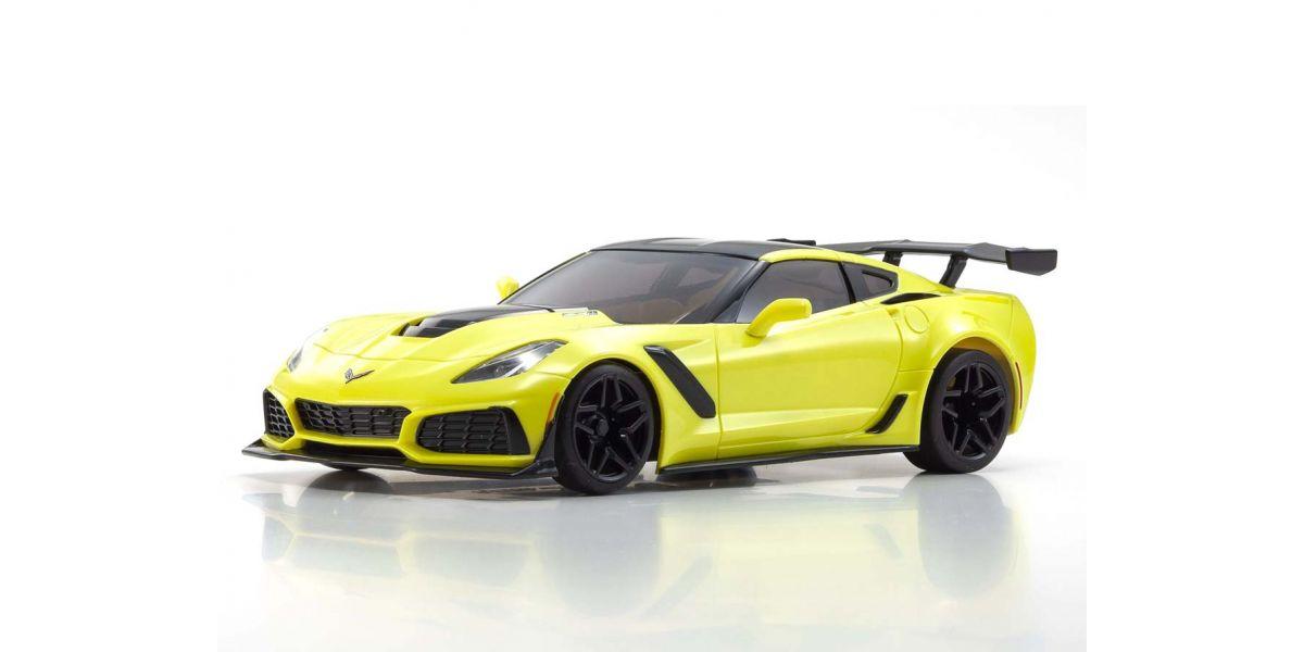 京商 ミニッツRWDシリーズ レディセット シボレー コルベット ZR1 レーシング イエロー LEDライトユニット付 32334Y