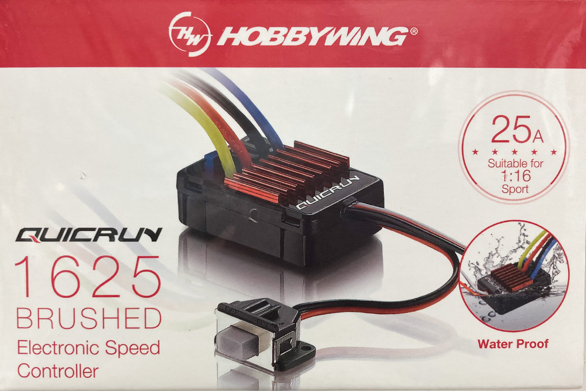 HOBBYWING QuicRUN-WP-1625-Brushed BEC内蔵1A/5V【1/16, 1/18用】