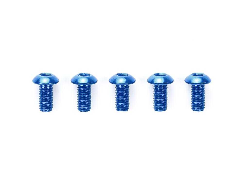 タミヤ OP.765 3×6mm六角ボタンヘッドビス ブルー(5本)  53765