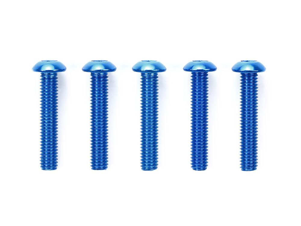 タミヤ OP.770 3×16mm六角ボタンヘッドビス ブルー(5本)  53770