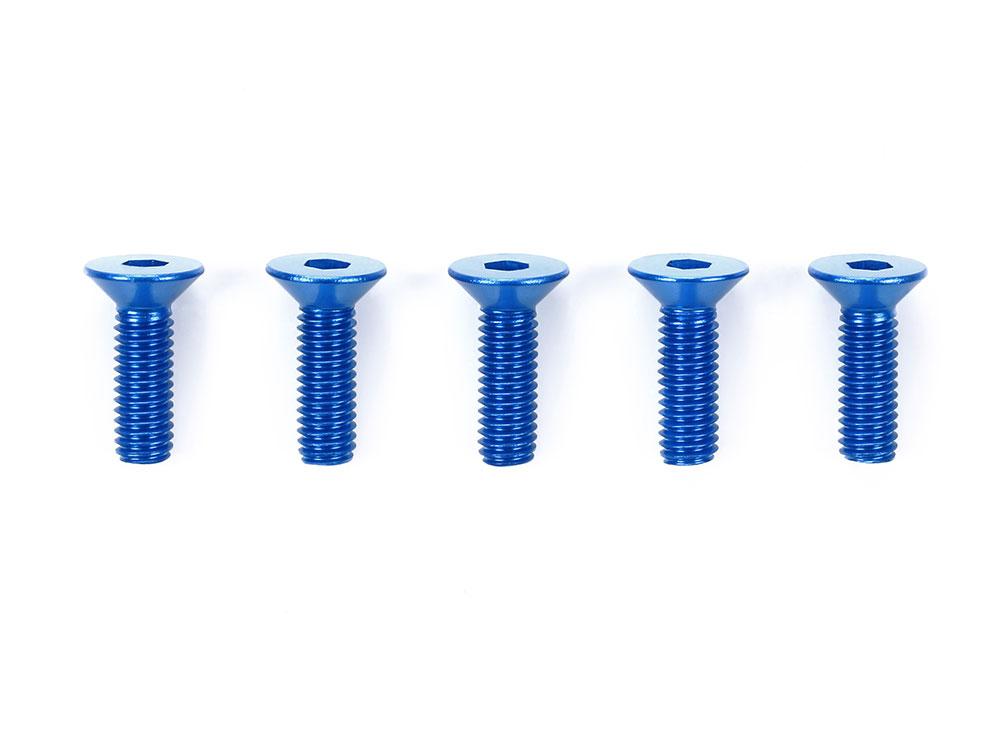 タミヤ OP.773 3×10mm六角皿ビス ブルー(5本)  53773