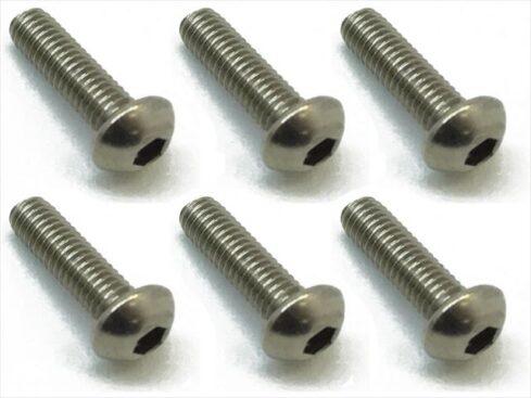 スクエア チタンヘックスナベビス 6本入 3×10 Titanium hex Pan Head Screw 3×10 (6 pcs.) NTR-310