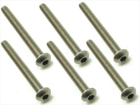スクエア チタンヘックスナベビス 6本入 3×30 Titanium hex Pan Head Screw 3×30 (6 pcs.) NTR-330