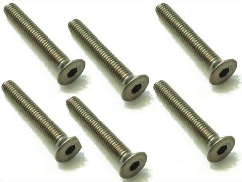 スクエア チタンヘックス皿ビス 6本入 3×20 Titanium hex Flat Head Screw 3×20 (6 pcs.) STR-320