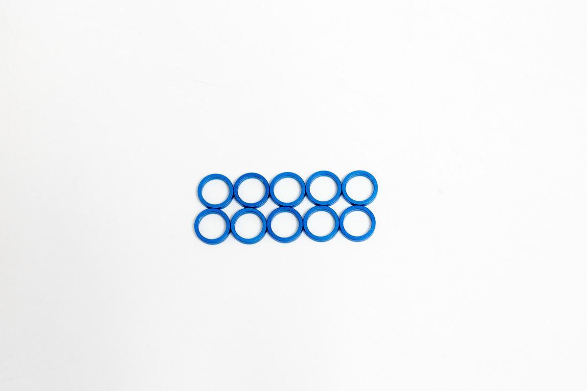 タミヤ 5x1.5mmスペーサー(青)(10個)カスタマーサービスパーツ 19804372-000