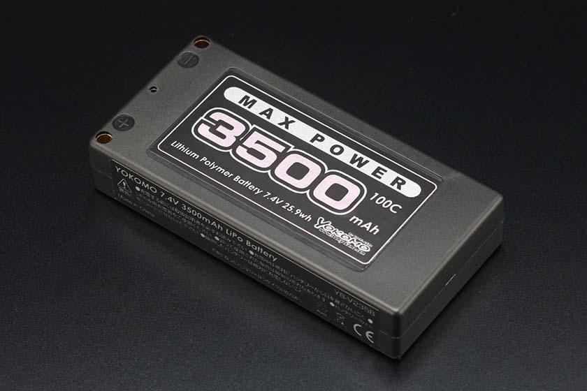 ヨコモ Li-po 3500mAh/7.4V ショートサイズバッテリー yb-v235ba