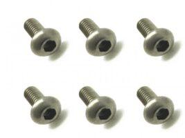 スクエア 2x5 チタンヘックスボタンビス 6本入 2x5 Titanium hex Pan Head Screw (6 pcs.) NTR-205