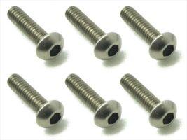 スクエア 2x8 チタンヘックスボタンビス 6本入 2x8 Titanium hex Pan Head Screw (6 pcs.) NTR-208